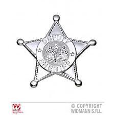 Silver Sheriffs Badge - Cowboy Fancy Dress Prop