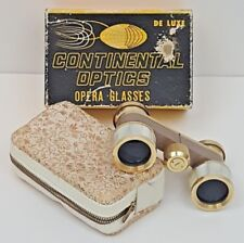 Opera Glasses With Soft Case 2.5 X 23 Continental Optics Mother of Pearl w/ Box