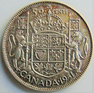 1951 CANADA, George VI, Silver 50 Cents, grading EXTRA FINE.