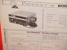 1965 CITI-FONE CB RADIO SERVICE SHOP MANUAL MODEL SS