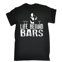 Life Behind Bars Bartender T-SHIRT Booze Alcohol Tee Top Funny birthday gift