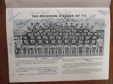 1972 JOHN CARROLL Univ. Football Program(43 Sign/w/JERRY  SCHWEICKERT/TOM PANFIL