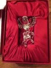 2004 WATERFORD Crystal ANGEL Ornament in Box with Hanger Storage Pouch