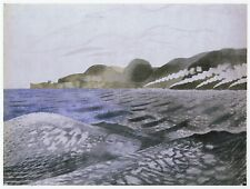Scapa Flow Eric Ravilious WWII print in 11 x 14 mount ready to frame SUPERB