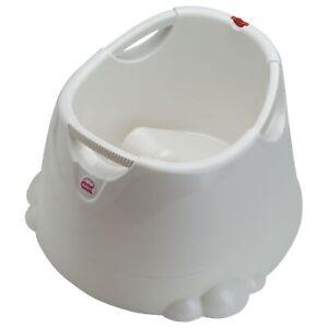 OK Baby Opla Shower Bath In White With Drainage Plug - 16-49-037