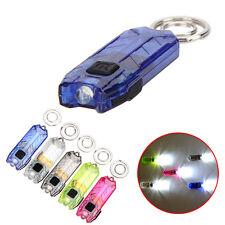 USB Flashlight  Torch LED Light Key Chain Rechargeable Multi Switch Waterproof