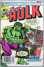 INCREDIBLE HULK #271 KEY NEWSSTAND Variant 1st ROCKET RACCOON The Beatles Tie In