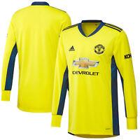 Adidas Kids Manchester United Away Goalkeeper Football Shirt 2020-21