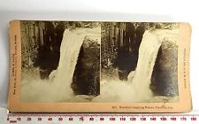 LAUGHING WATERS WATERFALL YOSEMITE Antique SEPIA Victorian KILBURN Stereoview