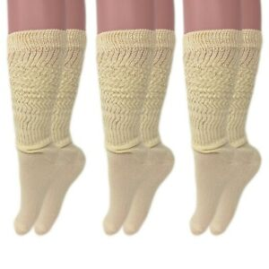 Long Cotton Lightweight Slouch Socks 3 PAIRS Boot Socks Size 9-11