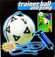 Football Skills Training Set Practise Keep Ups Size 5 Ball On Elastic. Inc Pump