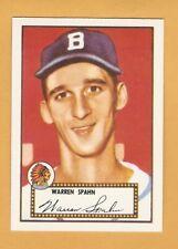 1952 Topps Reprint Singles Warren Spahn Robin Roberts Richie Ashburn S6B2
