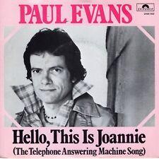 7inch  PAUL EVANShello, this is joannieHOLLAND 1978 EX  (S0017)