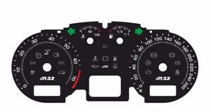 Custom speedometer instrument cluster gauge faceplate Volkswagen Golf 4 ver 2