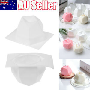 8 Sided Diamond Candle Mold DIY Aromatherapy Candle Making Silicone Mould