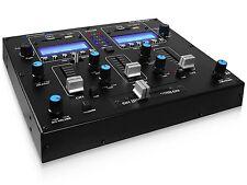 Technical Pro - DJ2USB - Table Top 2 Channel Dual USB/SD Card Mixer - Aux Input