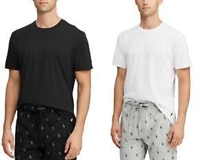 NEW Polo Ralph Lauren Men's XL Cotton Jersey Sleep Shirt Black White Crew-neck