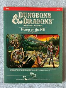 Horror on the Hill AD&D Module B5 TSR Dungeons and Dragons