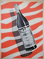 PUBLICITÉ DE PRESSE 1955 CINZANO VERMOUTH SUCRÉ - D'APRÈS GUY GEORGET