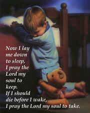 Bedtime Prayer - Little Boy: Beautiful 8x10 In. Christian Art Print