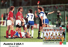 FOOTBALL WORLD CUP ITALY 1990 UNADDRESSED MAXI CARD AUSTRIA v USA
