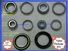 1993-2002 Isuzu Trooper Inner & Outer Front Wheel Bearing and seal-a set of 2