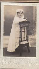 Photo ancienne communion année 1930 cartonnée Candé   ( No 4 )
