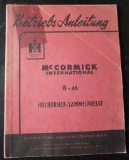 MC Cormick Hochdruckballenpresse B46 Handbuch