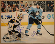 Sidney Crosby & Ryan Miller DUAL SIGNED 16x20 Photo PSA/DNA AUTOGRAPHED