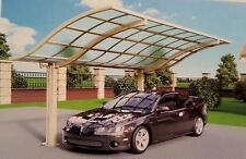 VIP LARGE CAR PORT DOUBLE SUN SHADE Shelter Outdoor Patio Decking building Site
