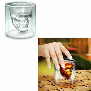 5pcs 25ml Clear Shot Skull Head Party Glass Crystal Vodka Wine Cup Gift Mug