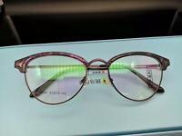 Vintage Retro Round Eyeglass frames Clear lenses  Black+silver Glasses Unisex