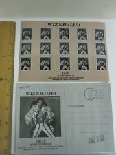 WIZ KHALIFA 2012 O.N.I.F.C promotional stamp sticker postcard New Old Stock