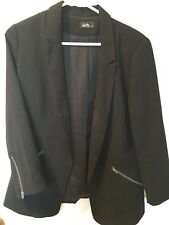 DOTTI BLACK  jacket-ZIP POCKET AND SLEEVE ,great cond(12), must see grab bargain