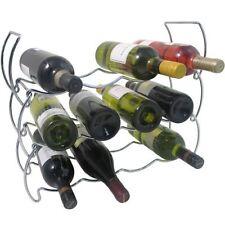 3 Livello Impilabile Chrome VINO Storage Display Rack Titolare fino a 12 Bottiglie