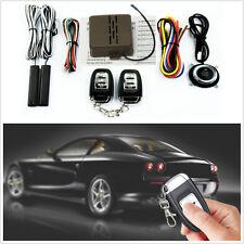 8 Pcs Car Offroad Alarm Start Security System Key Passive Keyless Entry Push Kit