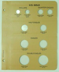 BRAND NEW Dansco United States Gold Type Set Album Page 7070 Double Eagle Etc.