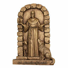 Saint St Francis of Assisi Wall Art Statue Sculpture Religious Catholic Gift