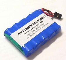 Batteria 6v 2600mAh Ni-Mh AA Stilo RX con spina Hitec Futaba per modellismo
