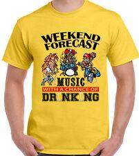 Weekend Forecast Music Drinking Mens Funny T-Shirt Festival BBQ Glastonbury V