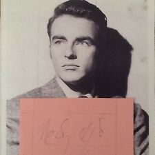 Montgomery Clift SIGNED Album Page with Photo  50s Actor  Handsome Man!!