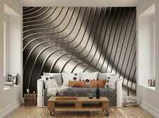 ohpopsi Metallic Steel Curves XL Wall Mural