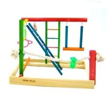 Penn Plax Bird Activity Play Gym Large Bird Toy Perch Cage