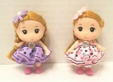 Plastic Braided Pigtail Doll Keychain For Decoration To Home, Car, Bag ( 2 pcs )