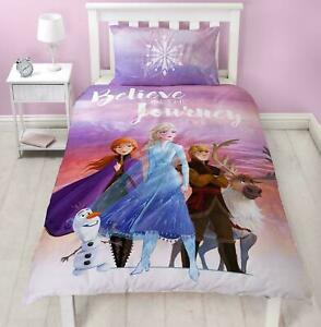Disney Frozen 2 Single Duvet Cover Set Journey Girls Polycotton 2 in 1 Design