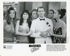 ED O'NEILL WITH JAMES BOND BEAUTIES MARRIED WITH CHILDREN 1990 FOX TV PHOTO