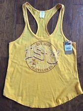 NEW Iowa State University Cyclones Juniors Womens Tank Top Shirt ISU Yellow