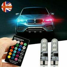 2pcs LED T10 W5W 5050 RGB Color Changing Remote Car Wedge Side Light Bulbs 2020