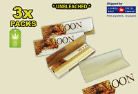 3 Packs - Moon Pure Hemp Unbleached Rolling Papers -