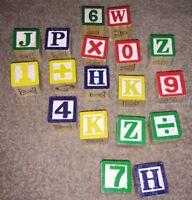 18 Wooden Letter & Number Blocks - Toys